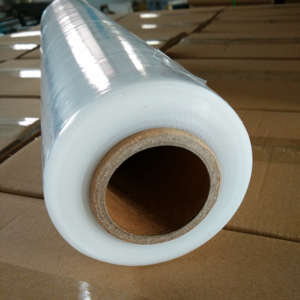 Hot Film 10/12/15/20/23mic LLDPE Stretch Film Thick Clear Polythene Rolls