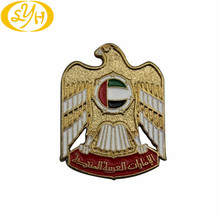 Backside Magneet Eagle Badge Gold Plating Badge met Snelle Delivelry Tijd