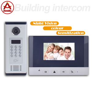 9999 rooms multi family doorbell door intecom multi apartment video intercom system with lock unlocking funtion
