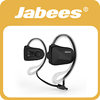 2017 Jabees stylish V4.1 NFC aptx noise reduction sweatproof hands free sport wireless bluetooth headset for smartphones