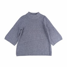 Voll nadel crew neck knitted halben hülse elegante wear frauen <span class=keywords><strong>pullover</strong></span>