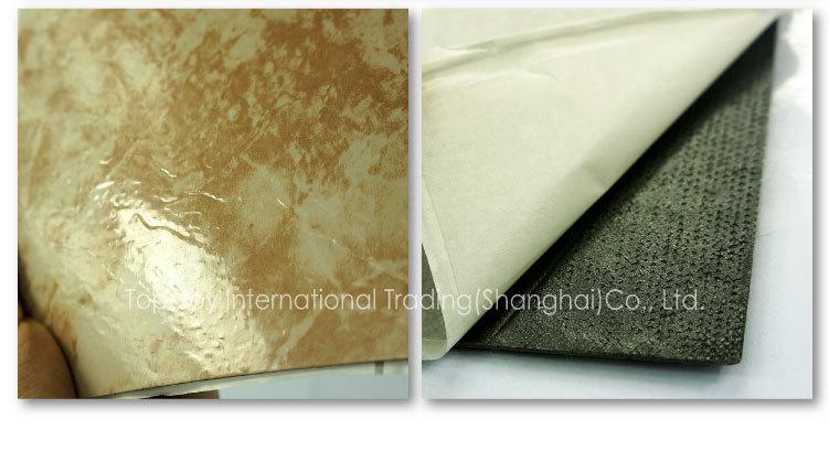Buccia e bastone di pietra pavimenti in piastrelle di pvc