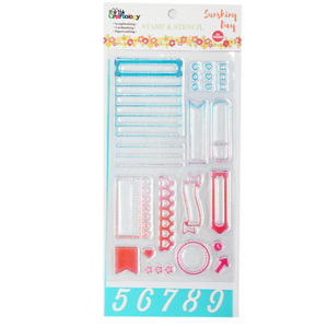 18pcs decorative diy planner accessories stamp and stencil