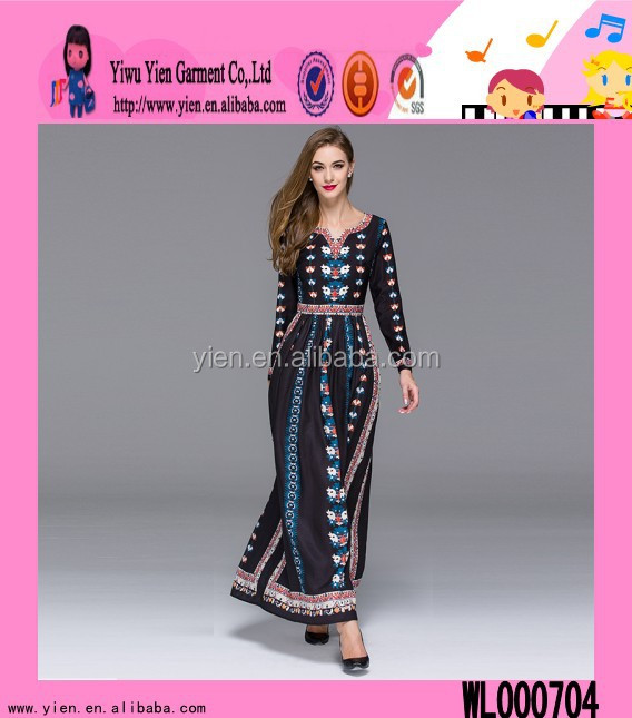 2015 Latest Design Indonesia Muslim Dress Alibaba Hot Sale Europe