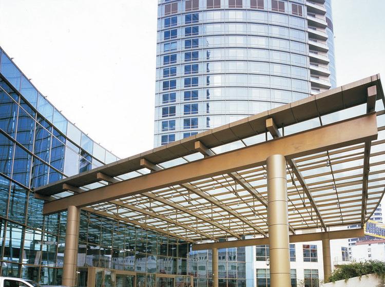 Yekalon Curtain Wall System Canopy System Aluminium Canopy