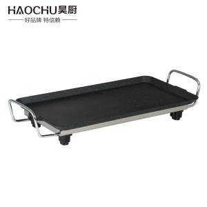 cast iron electric teppanyaki griddle grill plate pan