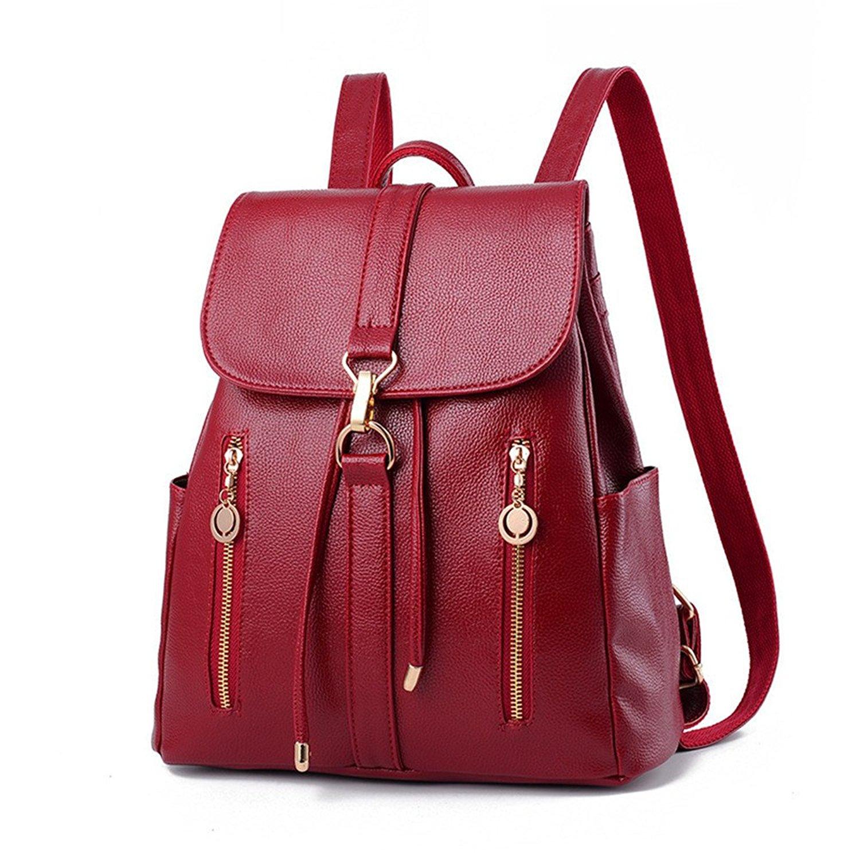65ec1b41cd70 Get Quotations · Fashion Shoulder Bag Rucksack PU Leather Women Girls  Ladies Backpack Travel bag Leather Backpack