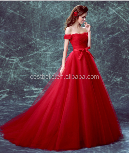 Cestbella Ts1132 Elegant Vintage Evening Gowns With Cap Sleeves Red ...