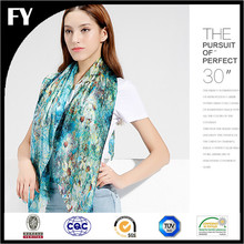 Premium Women Digital Printed Logo Silk Square Scarves