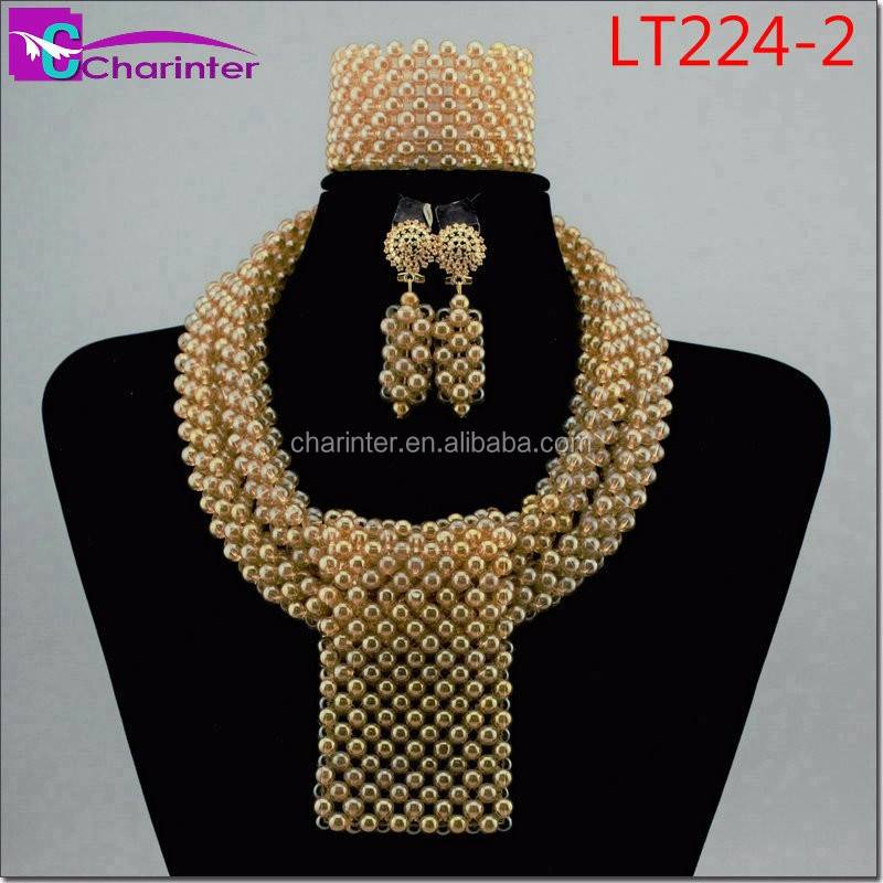 free shipping african beads jewelry set coral beads jewelry set Nigerian beads jewelry set