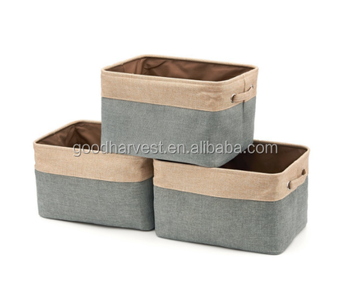 3 Pack Collapsible Canvas Fabric Storage Bin   Buy Storage Bin,Fabric  Storage Bin,Collapsible Storage Bin Product On Alibaba.com