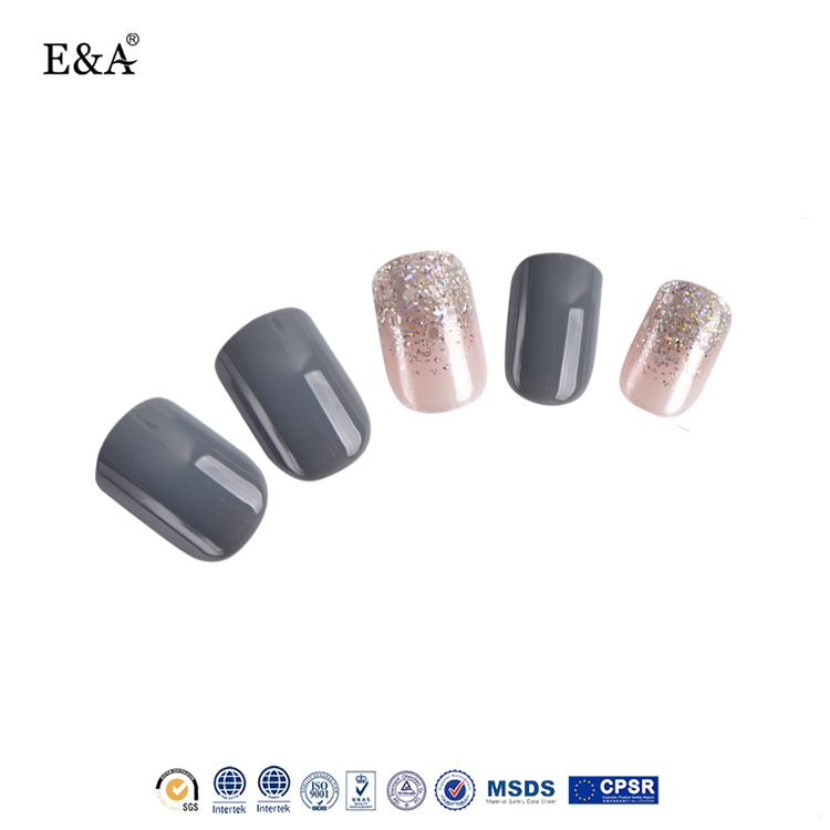 Health & Beauty Nail Care, Manicure & Pedicure Pink Short Square Silver Glitter Press On Nails Fake False Nails Set 20 Pieces Extremely Efficient In Preserving Heat