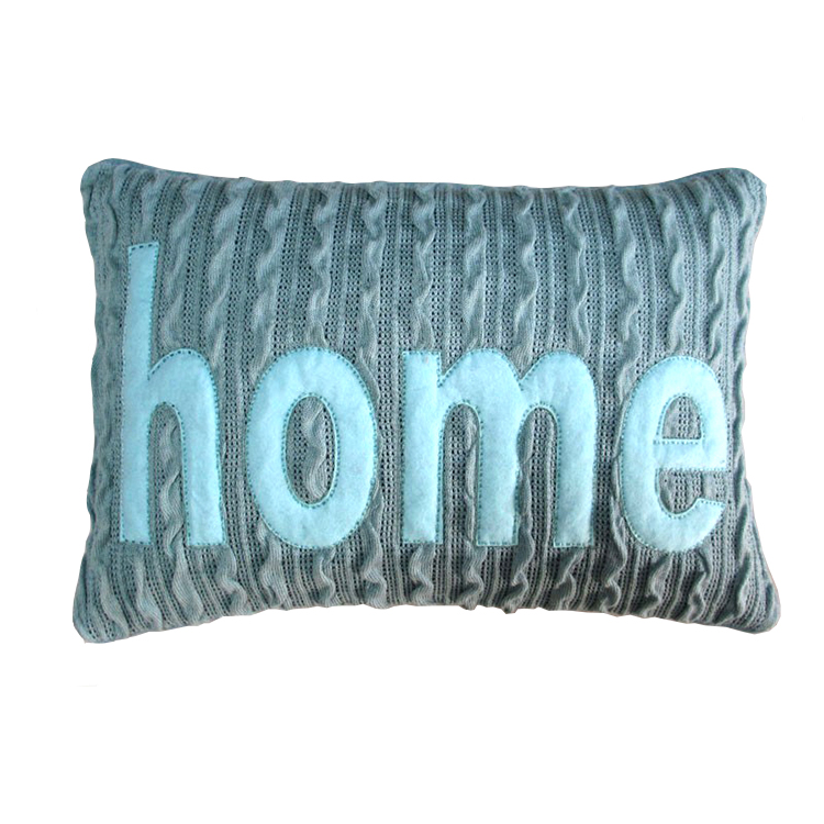 Knitting wool design HOME embroideried decorative sofa pillow cover