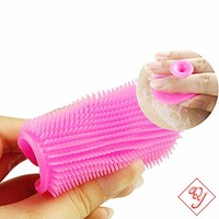 Hot Oval Makeup Brush Cleaner, Soft Silicone Facial Brush