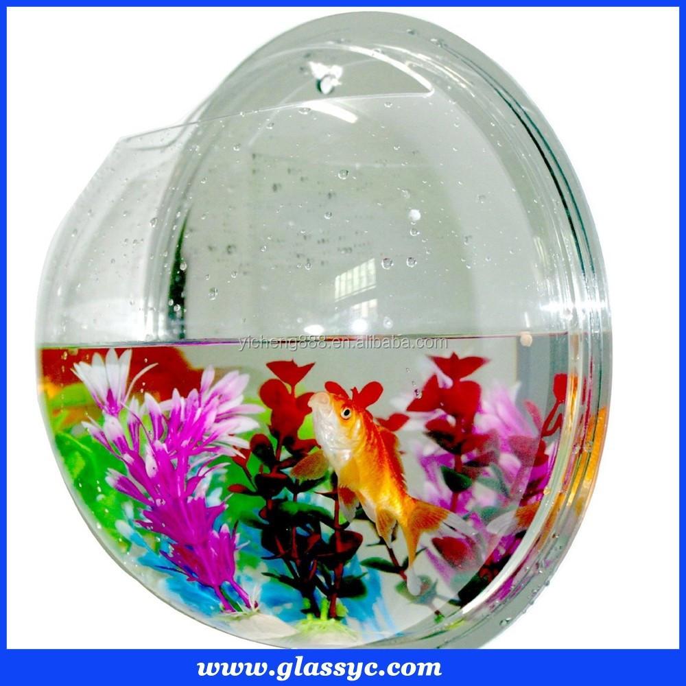 Top quality d coratif aquarium rond effacer mur mont for Prix aquarium rond