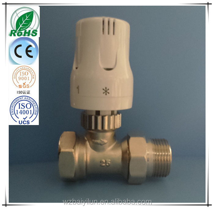 Hot water element nickle plated valve with J type thermal head combination
