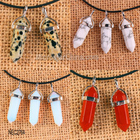 Fashion Jewelry Female Pendant Necklace Bullet Natural Crystal Gemstone Necklace