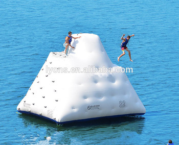 New design commercial inflatable water rock climbing wall for sale