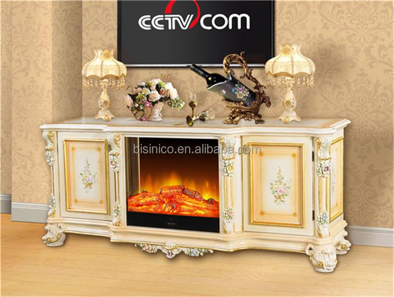 repisa de la chimenea de madera antigua tv stand decorativo insertar fogn elctrico realista