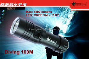 Solarstorm DX1 XM -L2 U2 LED Scuba Diver Diving Flashlight 100M 12000 Lumens L2 LED Torch Waterproof Lantern Lanter