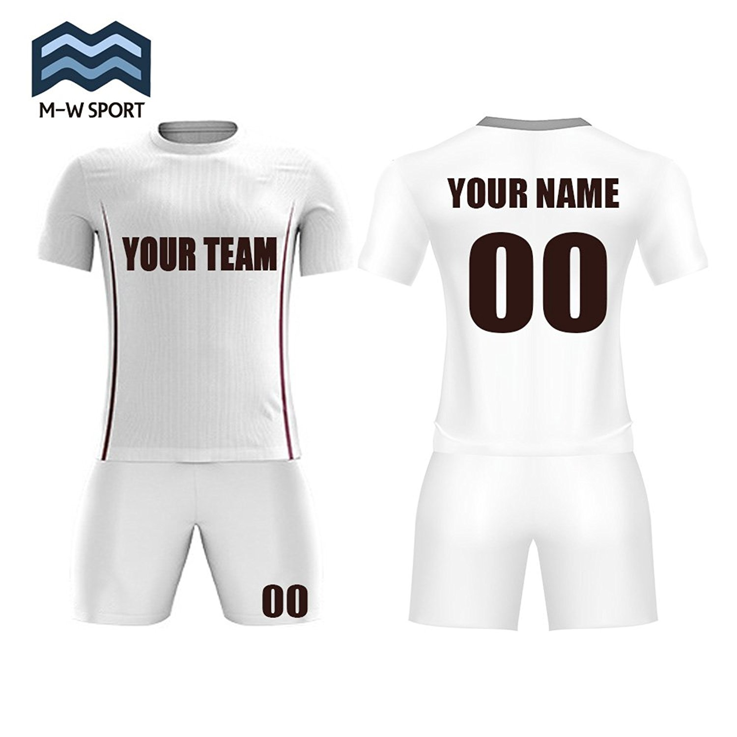 a6390db90fa4c Get Quotations · M-W Sports Custom Soccer T-Shirts and Shorts Full  Sublimation Quick Dry Sport Uniform