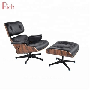 Wholesale Classic Design Lounge Chair With Ottoman In Wood Veneer