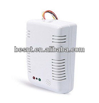 gas detected system, Besnt 12-24V DC network Gas Leakage cctv Detector with Sound&Flash alarm BS-FD705WA