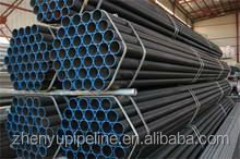 SCH40 ASTM A106B black steel MS seamless pipe