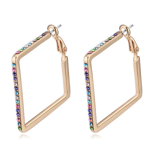 <strong>Fashion</strong> Designed For Party, 4 Colors Available Champagne Gold Plated Earring
