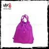 Customized color foldable shopping bags, fashion drawstring backpack, pull string nonwoven backpack