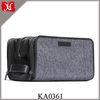 High Quality Nylon Travel Dopp Kit Men's Travel Toiletry Bag with three compartments