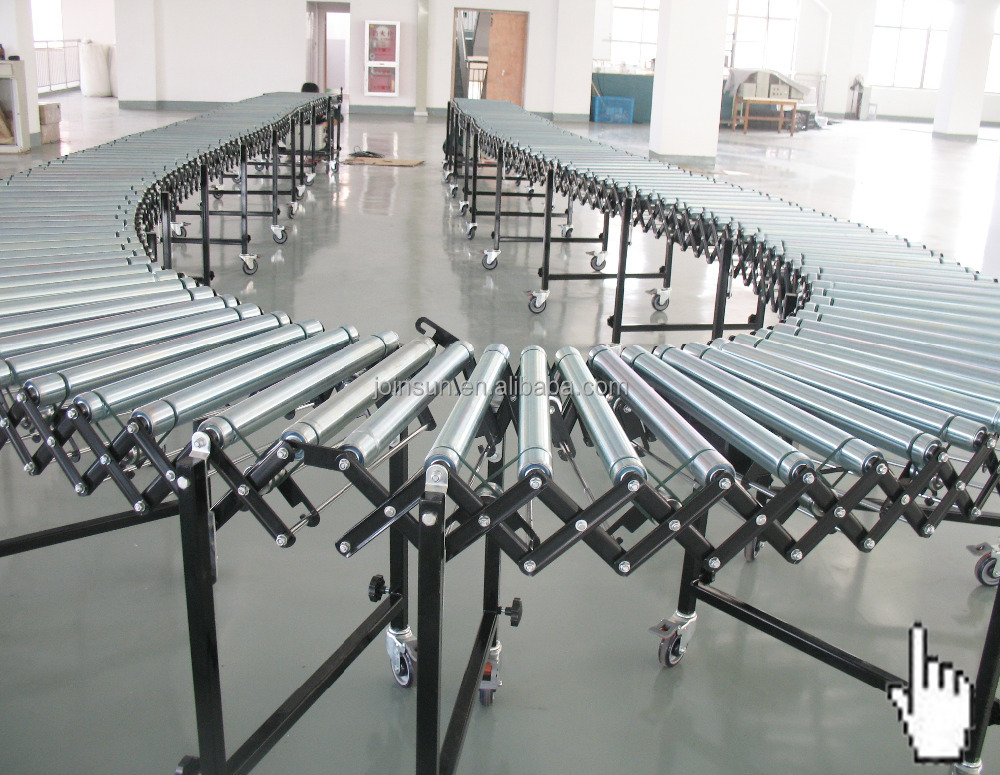 60kg duty flexible expanded plastic roller conveyor price