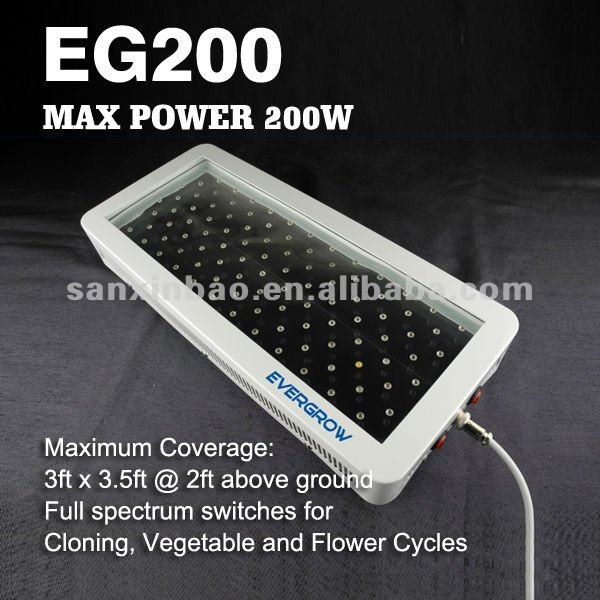 200W High Power Led Plant Grow Light Indoor Led Light Hydroponic System EG200