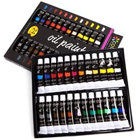 24colors 12ml artist diy color paint by number kits oil painting set