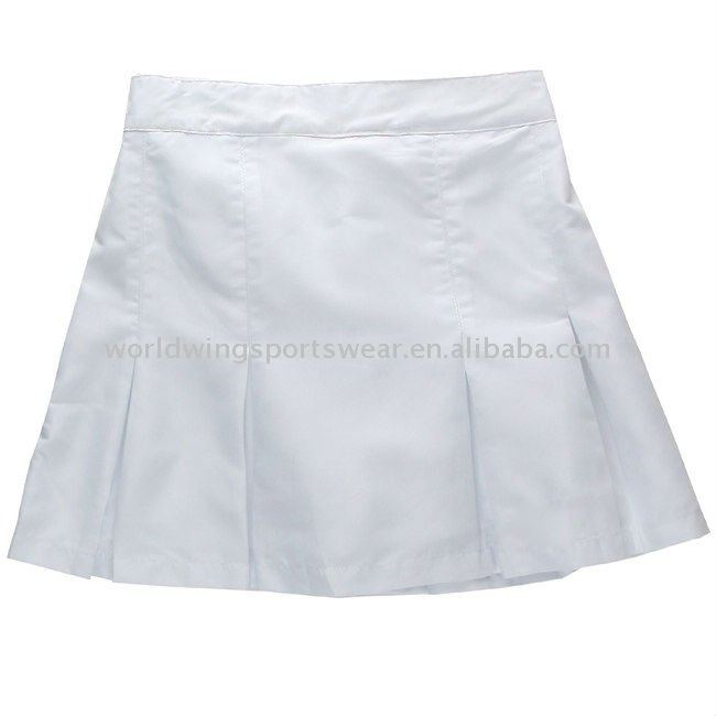 ladies white polyester woven Sports Tennis skorts