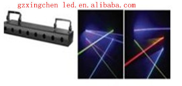 Guangzhou new product 8 heads stage laser curtain led display curtain light