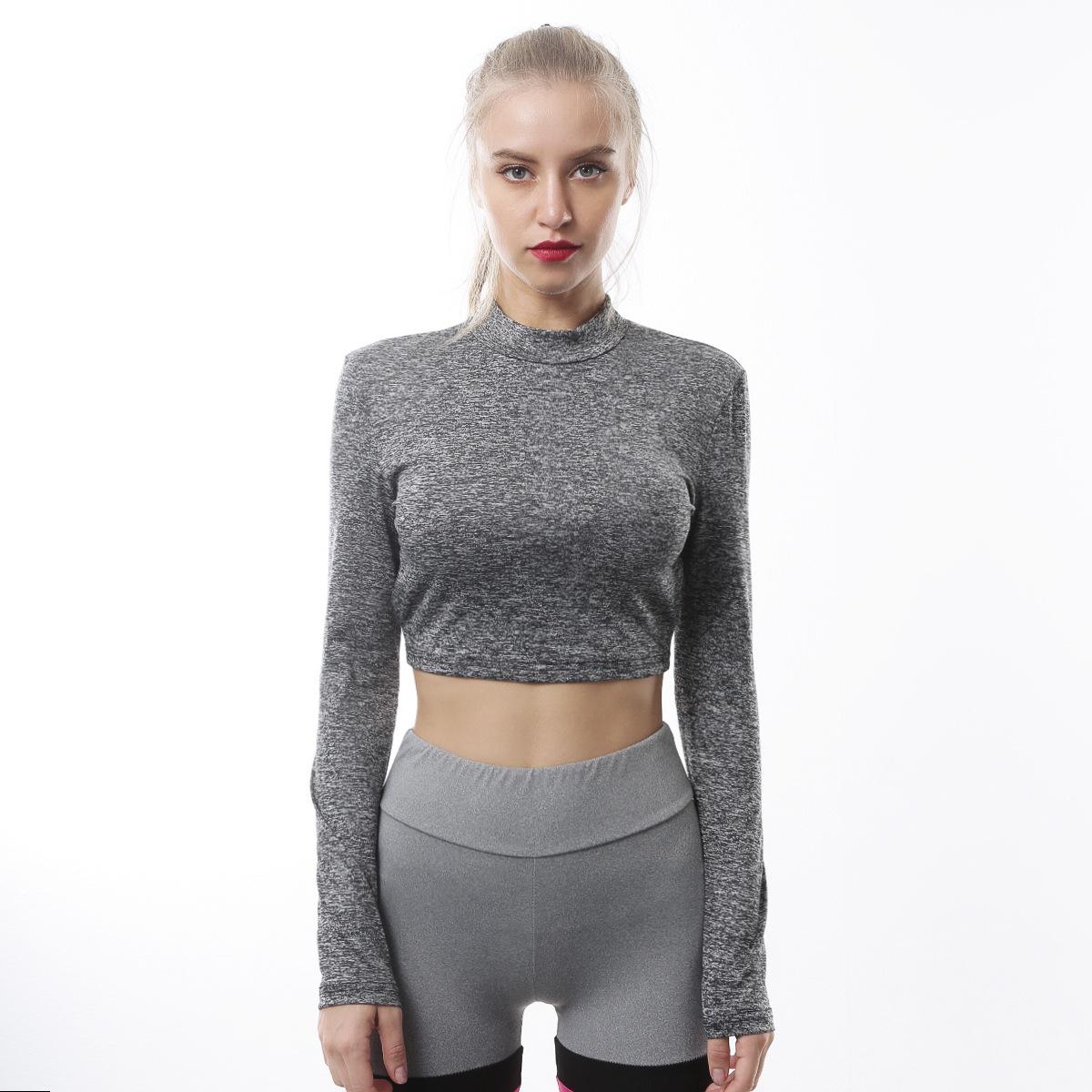 507ae8a057ab0 Compre PENERAN T Shirt Esportiva Mulher Fitness Gym Colheita Top ...