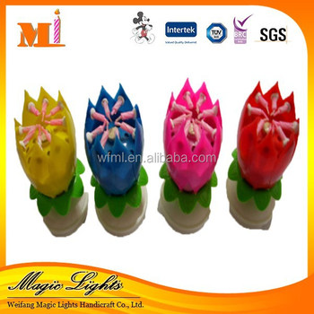 Lotus flower music fireworks birthday candle for birthday party lotus flower music fireworks birthday candle for birthday party mightylinksfo