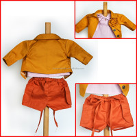 Virial style clothing cotton matirial for baby doll