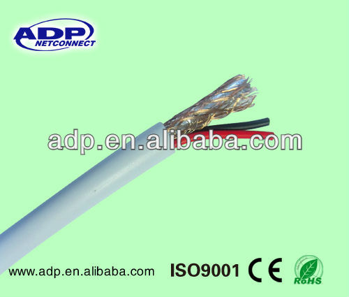CCTV coaxial cable with 60%/90% AL/CCA braiding