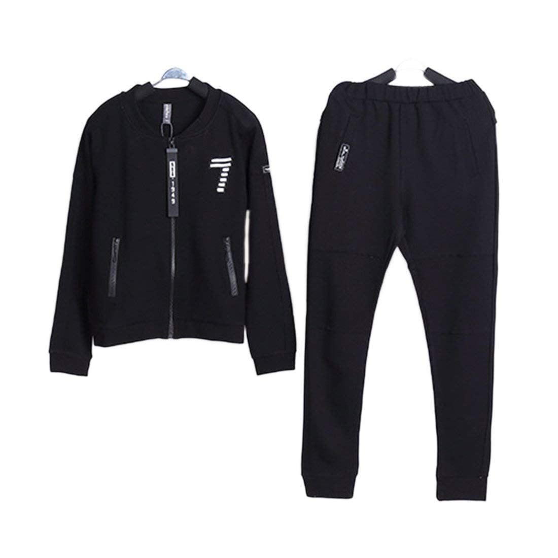 258416846e0d5 Get Quotations · YIBLBOX Boys Girls Kids Full Zip Up Tracksuit Gym Suit  Jogging Joggers Jacket and Pant Set