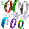 China manufacturer custom adjustable silicone rubber wristband bracelet with holes