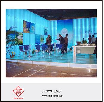 Beursstand Vloersysteem Met Verlichting En Gehard Glas - Buy Stand ...
