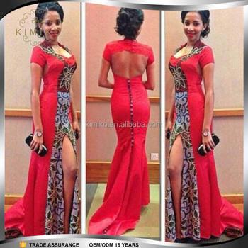Sexy Dashiki Mode Rote Afrikanische Hochzeit Kleider Für Frauen ...