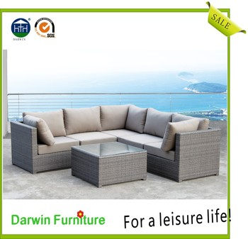 Cheap Discount Rattan Sectional Sofa Set Plastic Black Resin White Wicker  Outdoor Furniture