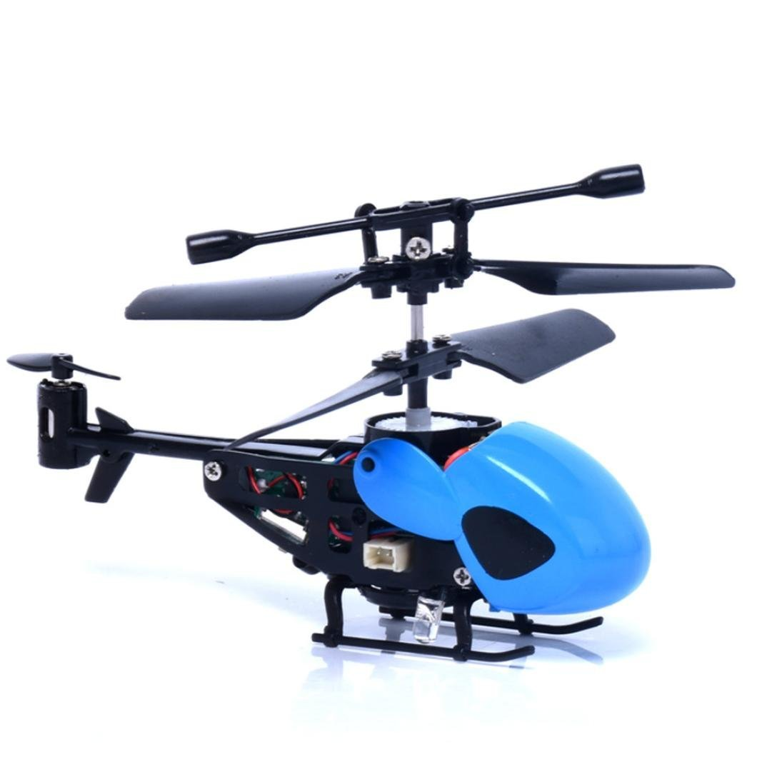 RC Helicopter, Lookatool RC 2CH Mini rc helicopter Radio Remote Control Aircraft Micro 2 Channel, Blue