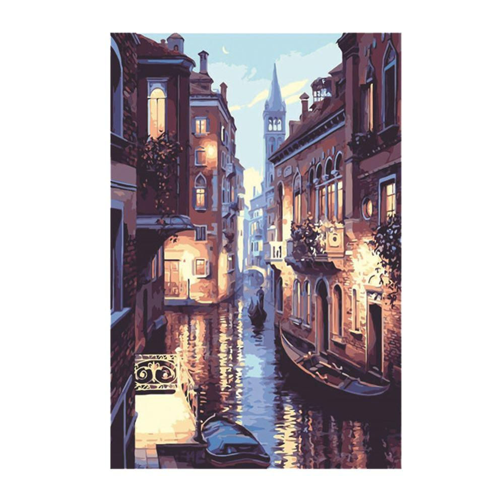 Unframed HD Inkjet Painting Street Landscape Painting Home Decoration Oil Painting Wall Art Picture For Living Room Cavas Prints