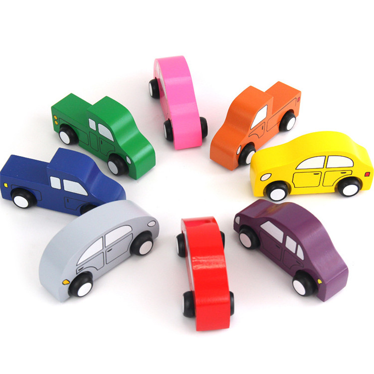 FQ brand new design 8 pieces set scale kids wooden model car