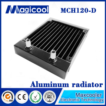 120mm Water Cooling CPU Cooler Row Heat Exchanger aluminum Radiator for PC Wholesale with 27mm thickness