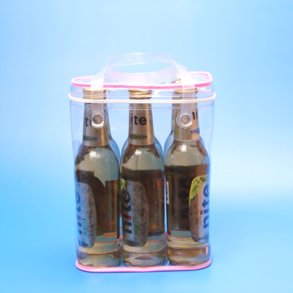 Wine Bottle Carrier 6-Bottle Tote Bag, Six Bottle Weekend Wine Bag, Beer Beverage Bottle Bag